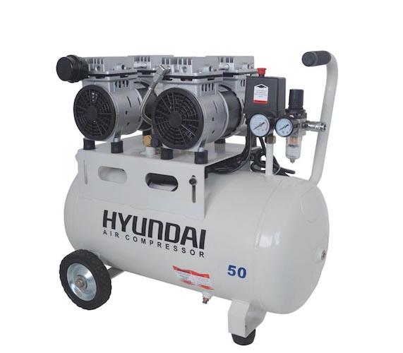 کمپرسور باد بی صدا هیوندای مدل 1550-AC سایز  50 لیتری