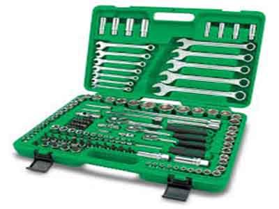 جعبه ابزار 130 پارچه پلاستیکی تاپ تول TOPTUL