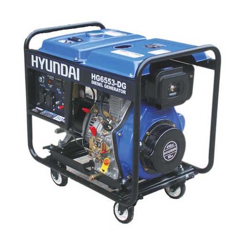 موتور برق هیوندای مدل HG6553-DG توان 5300 وات دیزلی