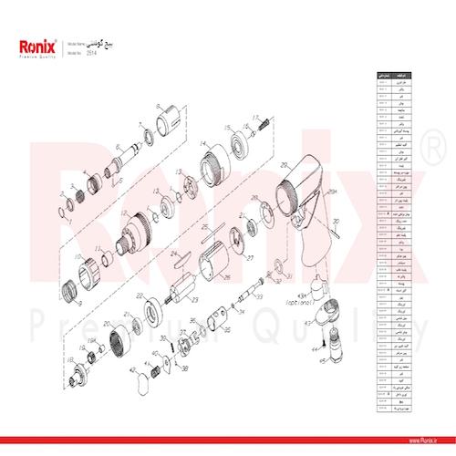 پیچ گوشتی بادی رونیکس مدل 2514
