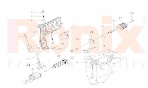 دریل چکشی رونیکس مدل 2210C