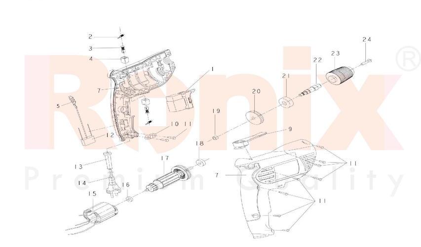 دریل رونیکس مدل 2110