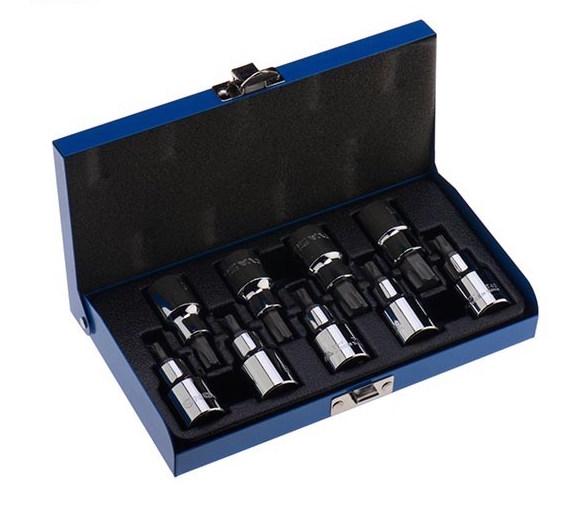 جعبه بکس ۱/۲ آلن ستاره ای ۹ پارچه نووا مدل NTS 7005