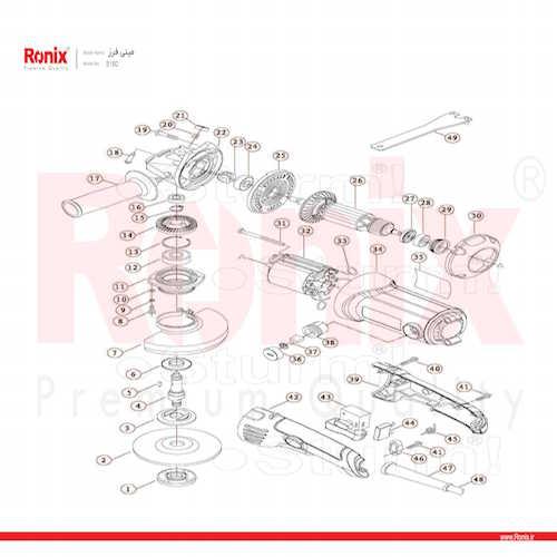مینی فرز رونیکس مدل 3150N دسته بلند