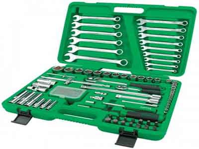 جعبه ابزار 106 پارچه پلاستیکی تاپ تول TOPTUL
