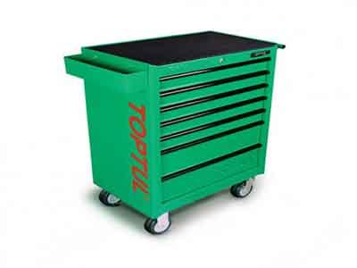 جعبه ابزار 7 کشو چرخ دار (سبز) تاپ تول TOPTUL