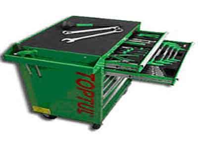 جعبه ابزار 7 کشو چرخ دار 227 پارچه تاپ تول TOPTUL