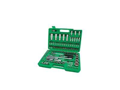 جعبه ابزار سبز 108 پارچه پلاستیکی تاپ تول TOPTUL