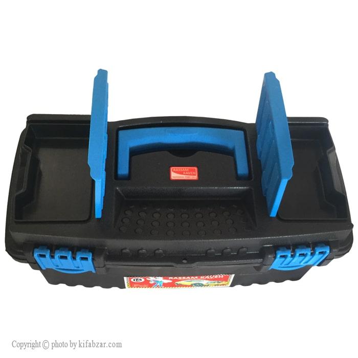 جعبه ابزار پلاستیکی رسام کاوه مدل 26700
