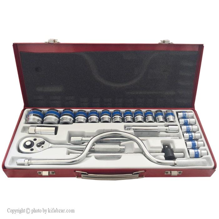 جعبه بکس مکانیکی کینگ تول مدل KIT-24 شش گوشه