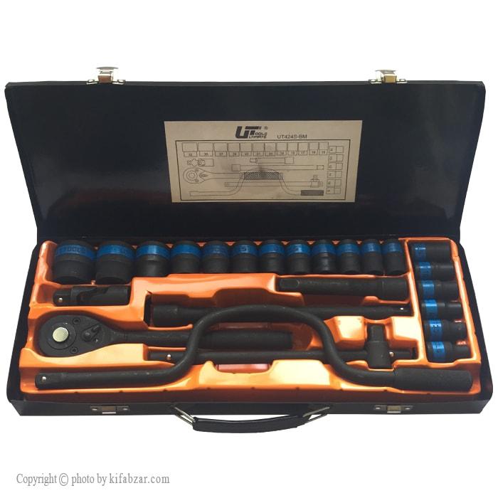 جعبه بکس یو تی مدل UT424S-BM | Ratchet Wrench 24 PCS UT424S-BM Ronix