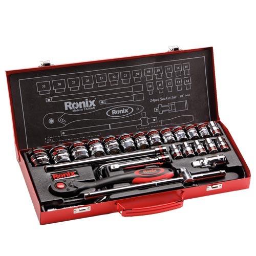 جعبه بکس رونیکس مدل RH-2624 سایز 24 پارچه  شش گوش