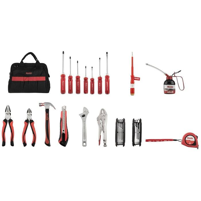 کیف ابزار کامل رونیکس با ابزار مدل RH-9101 سایز 13پارچه