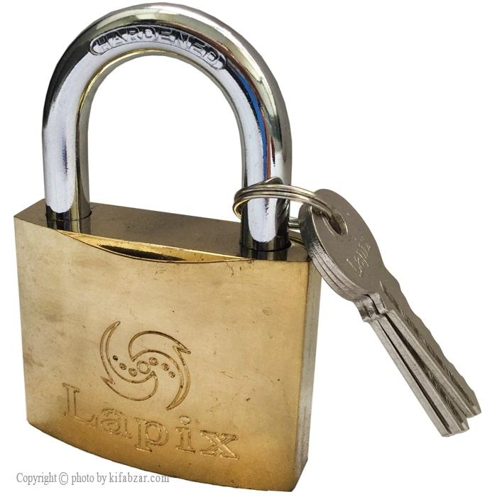 قفل آویز لاپیکس سایز 75 میلیمتر