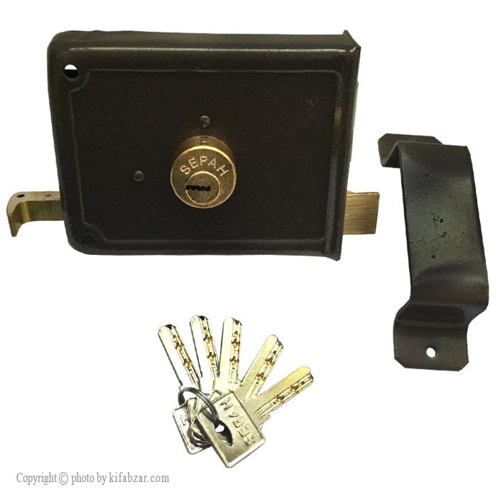 قفل درب حیاطی سپه مدل ژوییل کلید کامپیوتری