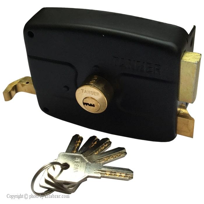 قفل حیاطی تنسر طرح ایزو مدل TDL-N-222  کلید کامپیوتری