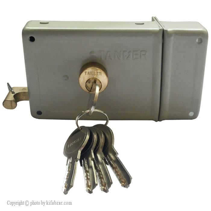قفل حیاطی تنسر طرح ژوییل مدل TDL-Y-323 کلید کامپیوتری