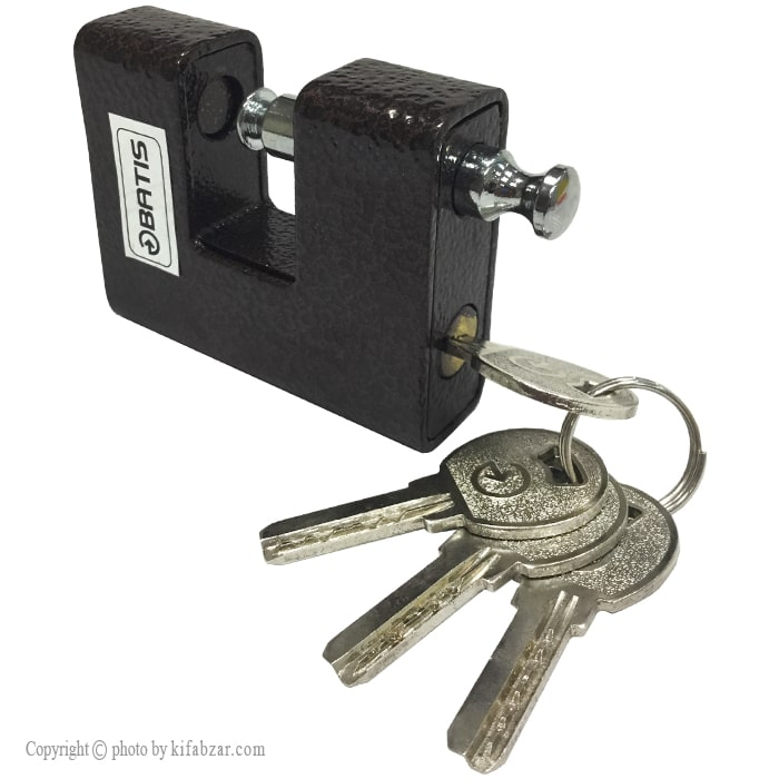 قفل کتابی چکشی باتیس کلید کامپیوتری سایز 80 میلی متر
