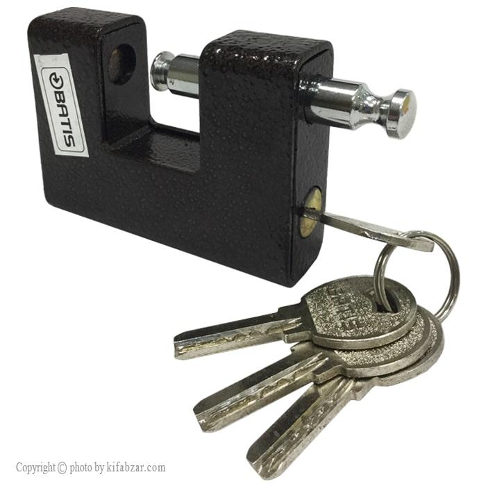 قفل کتابی چکشی باتیس کلید کامپیوتری سایز 90 میلی متر