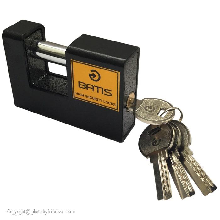 قفل کتابی چکشی باتیس کلید کامپیوتری سایز 92 میلی متر