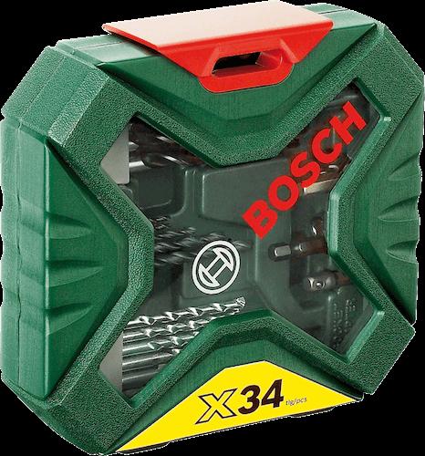 مجموعه 34 عددي ابزار سرمته بوش مدل 2607010608 X-LINE