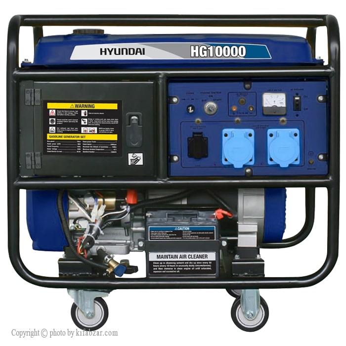 موتور برق هیوندای 10 کیلووات مدل HG10000 استارتی