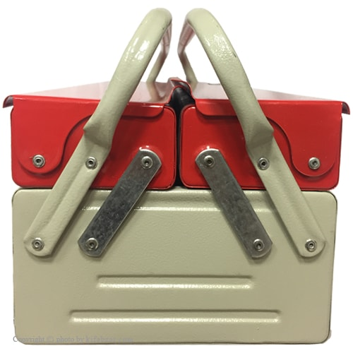 جعبه ابزار لومانو 50 سانتی 2 طبقه مدل 502