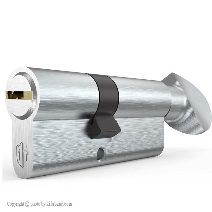 سیلندر قفل درب آپارتمانی نیکل ساتن تنسر سایز 7 سانتیمتر