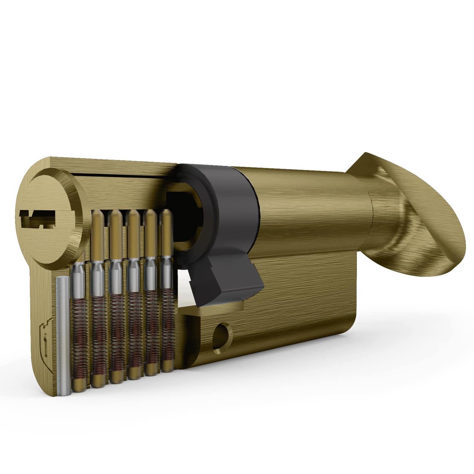 سیلندر قفل درب سرویس زیتونی ساتن تنسر سایز 7 سانتیمتر