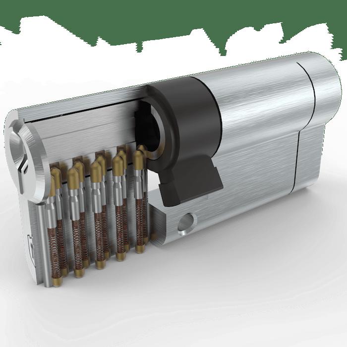 سیلندر قفل درب تنسر مدل نیکل ساتن سایز 70 کلید دوشیار