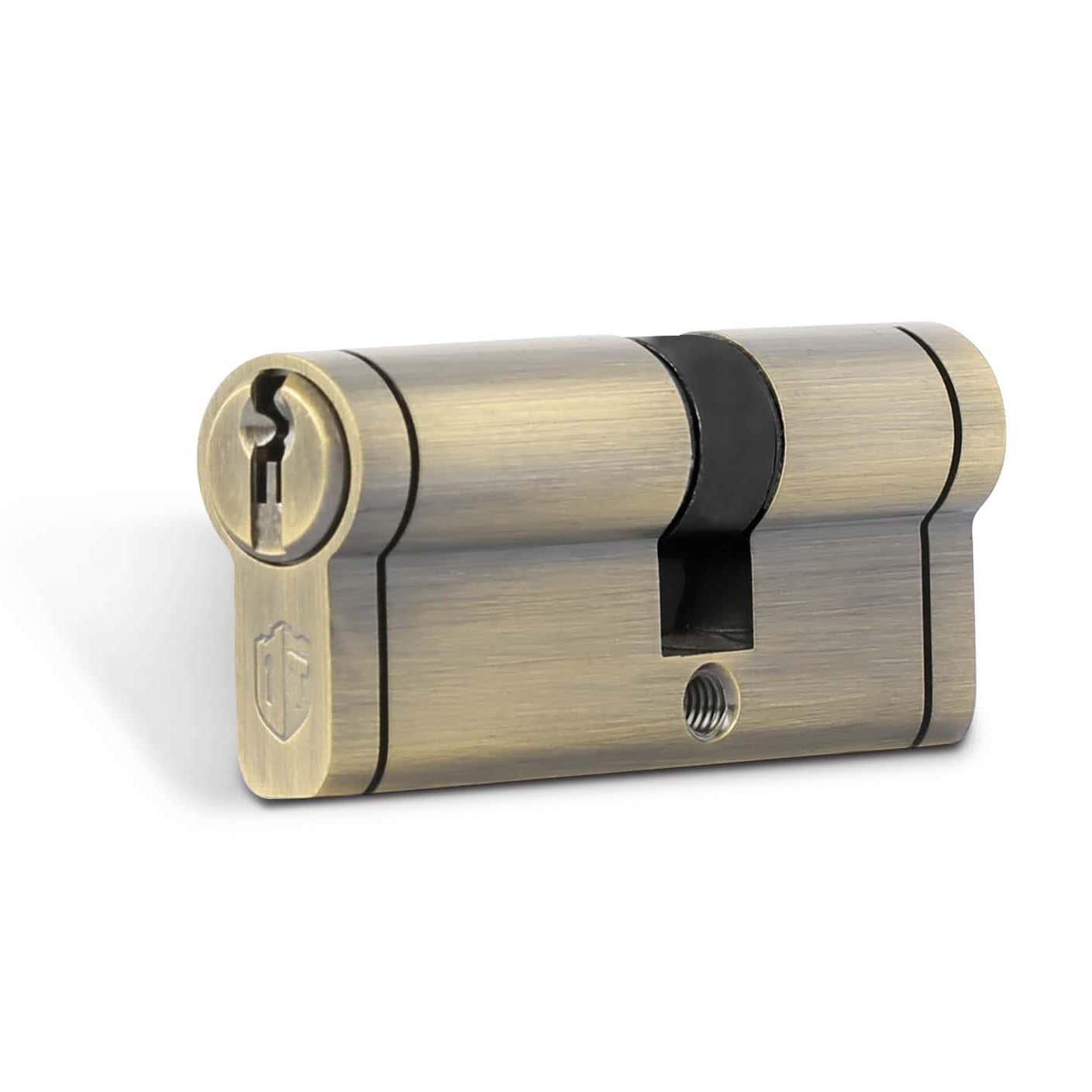 سیلندر قفل درب تنسر مدل زیتونی ساتن سایز 70 کلید دوشیار