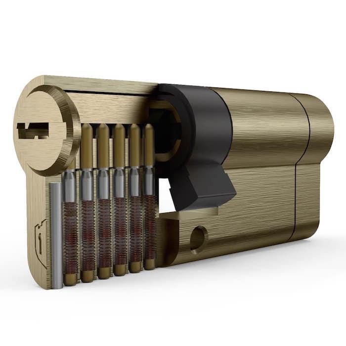 سیلندر قفل درب تنسر مدل زیتونی ساتن سایز 70 کلیدکامپیوتری