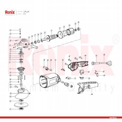 مینی فرز دسته بلند رونیکس مدل 3150