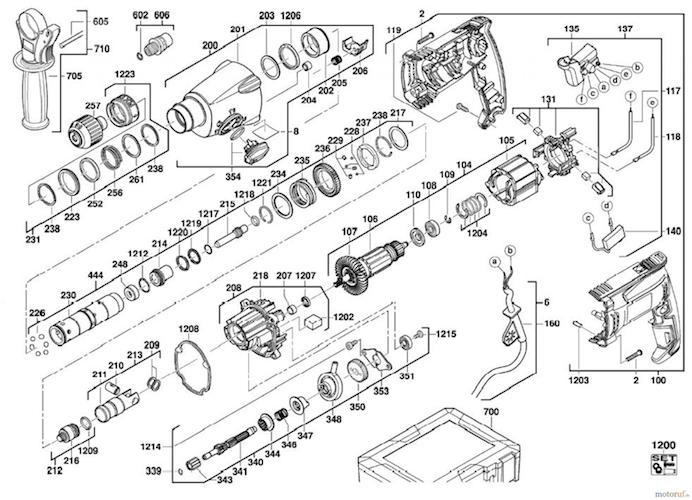 دريل بتن کن آاگ مدل KH 24XE سه کاره